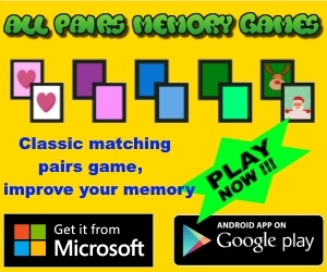All pairs memory games